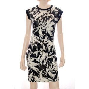 Diane Von Furstenberg VINTAGE Palm Tree Silk Dress